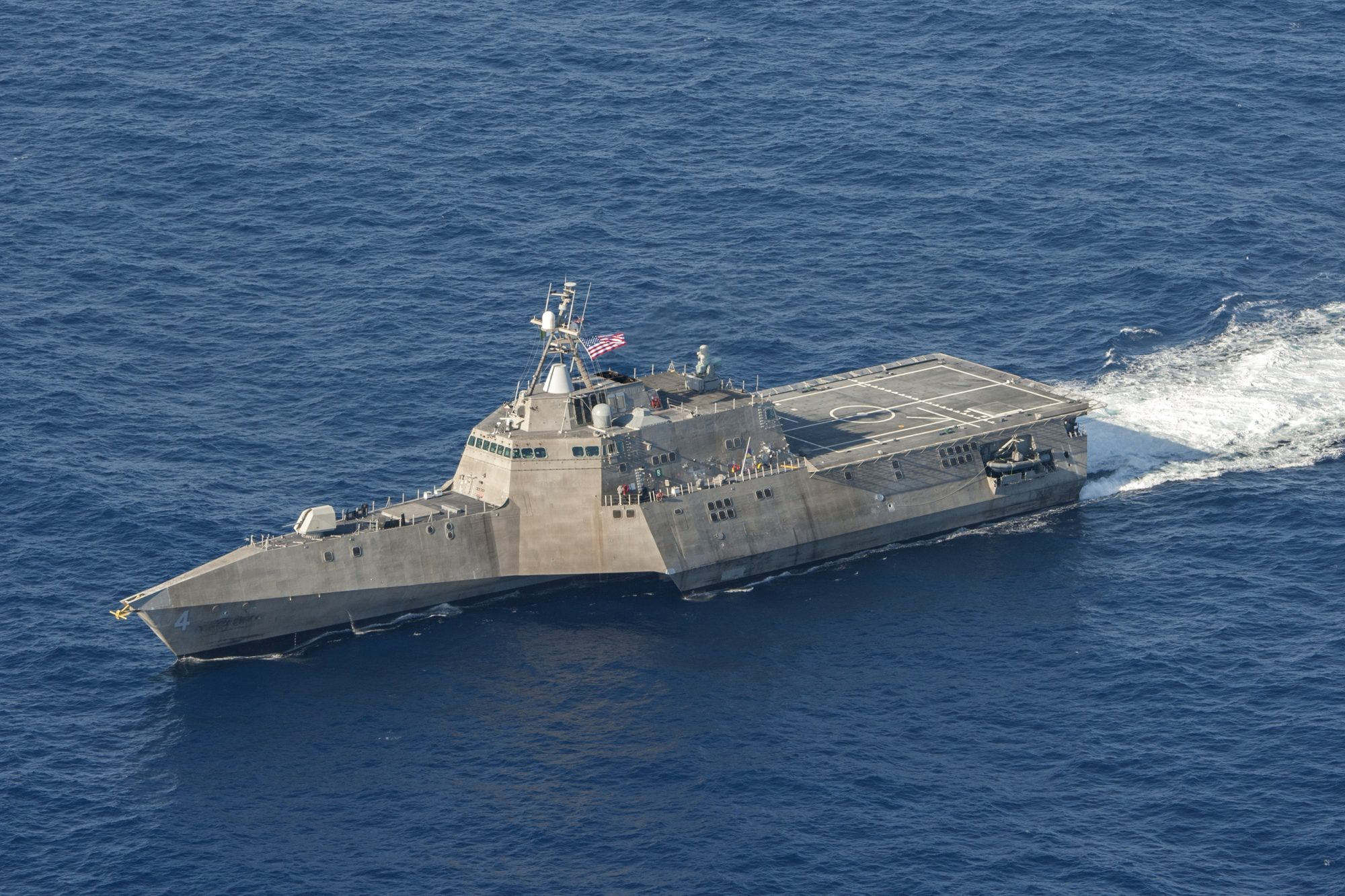 USS Coronado LCS-4 underway in April 2014